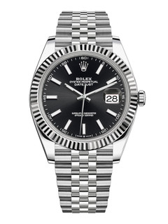 Rolex Datejust steel and white gold with black dial 41mm