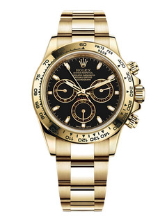Rolex Daytona yellow gold with black dial
